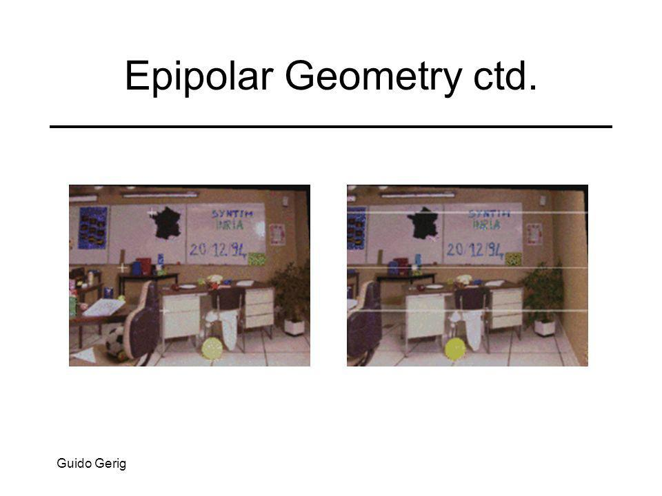 Geometria Epipolar: notação OlOl P OrOr PlPl plpl x cl y cl z cl x cr y cr z cr prpr PrPr elel erer Linha epipolar Linha epipolar