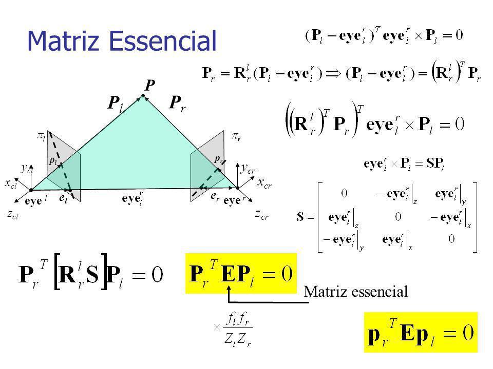Parâmetros extrínsecos xcxc ycyc zczc ywyw xwxw zwzw PwPw PcPc t