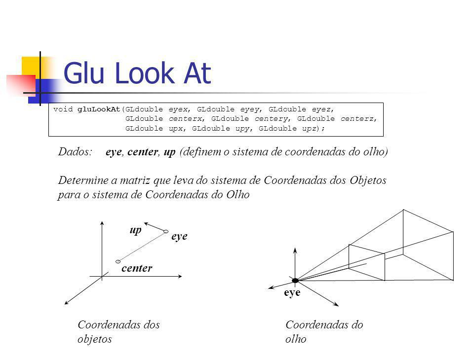 Calculo do sistema - x e y e z e yeye center eye zozo yoyo xoxo zeze xexe up dados: eye, center, up