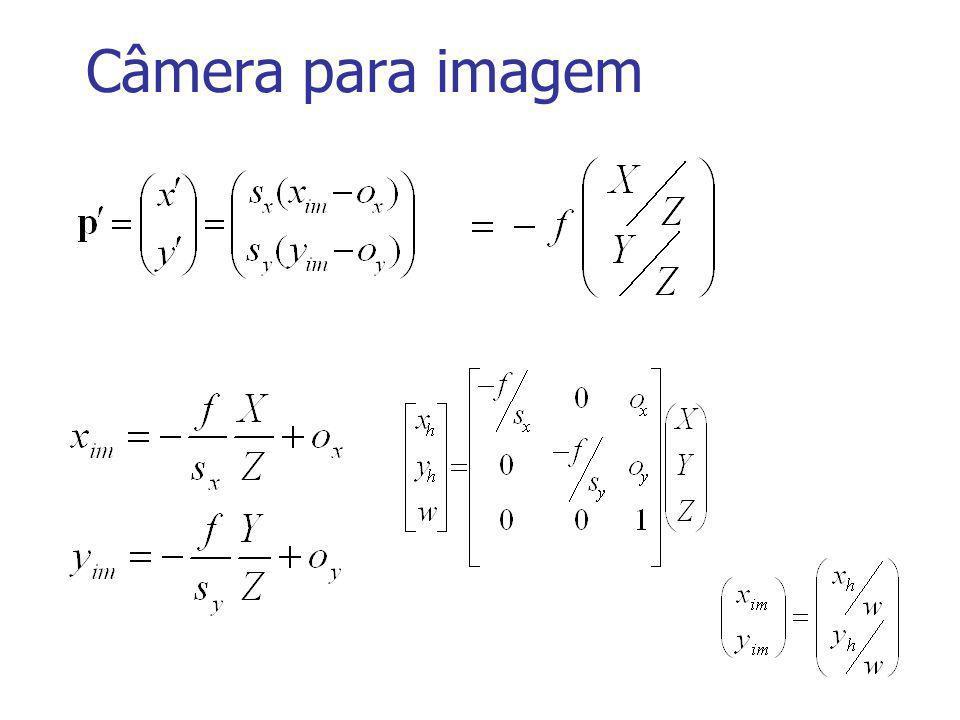 Geometria Epipolar: Matriz Fundamental Matriz fundamental