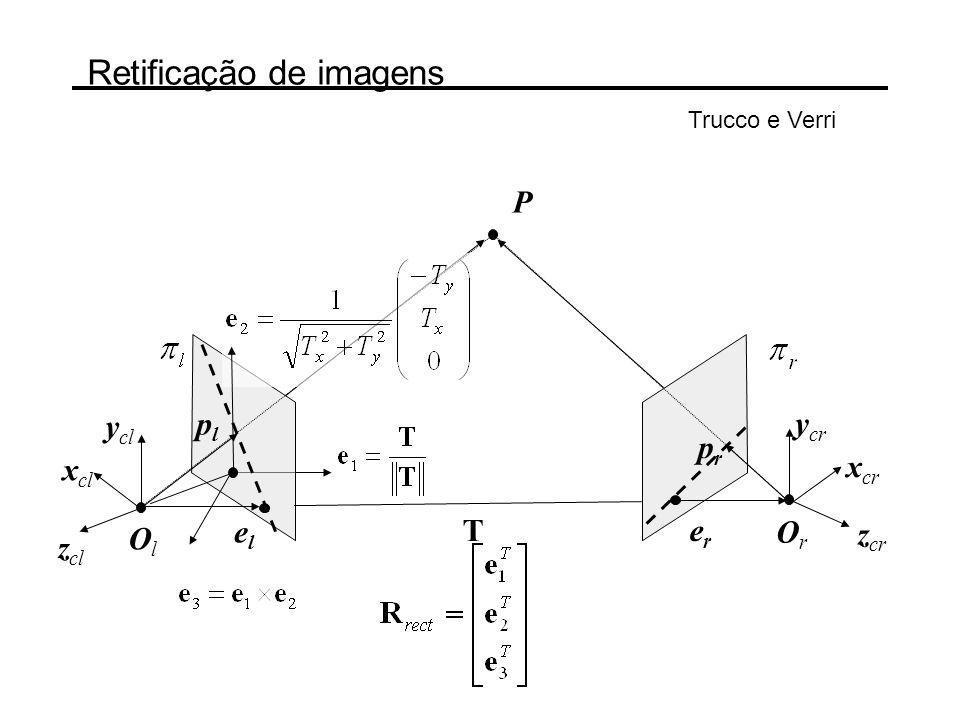 Retificação de imagens Trucco e Verri 1.Construa: 2.