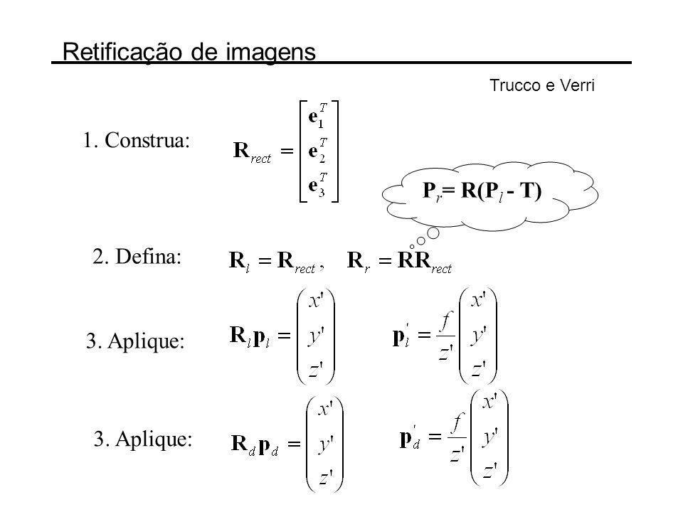 Stereo image rectification Steve Seitz, University of Washington