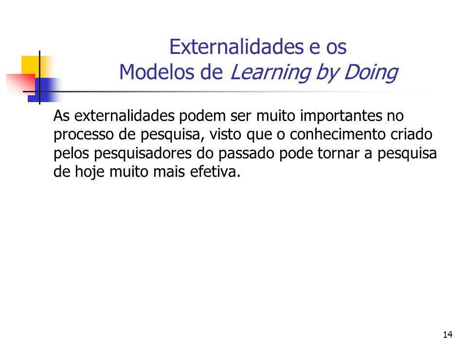 15 Externalidades e os Modelos de Learning by Doing What Descartes did was a good step.