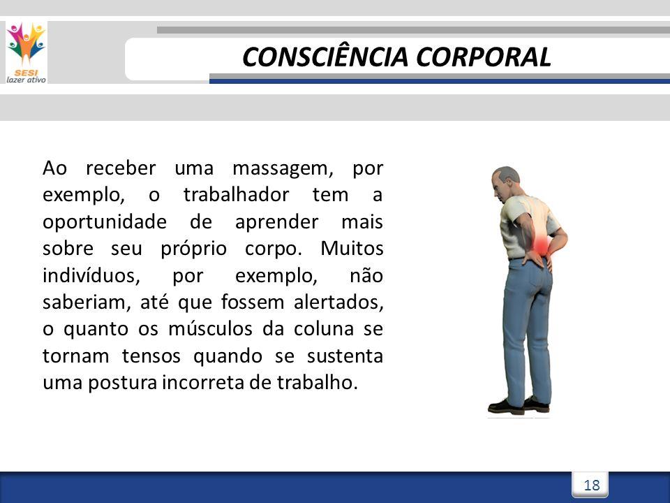 3/3/201419 ALÍVIO DE DORES E INTEGRAÇÃO SOCIAL A massagem pode ser entendida ainda como uma maneira de cuidar de si mesmo e do outro, na medida em que auxilia no alivio de dores corporais, tensão e rigidez muscular.