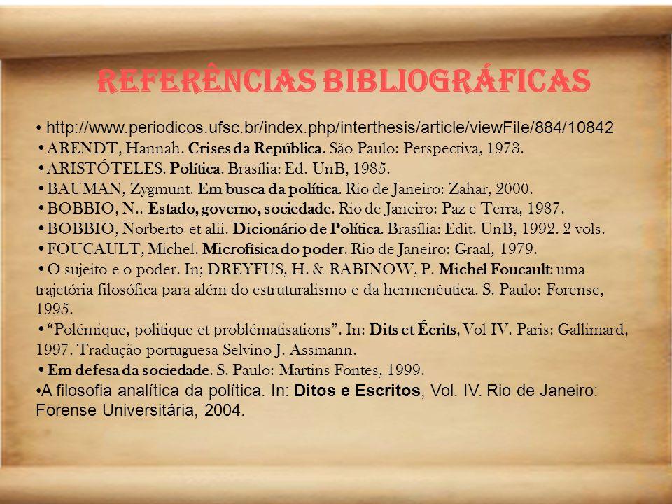Referências bibliográficas Omnes et singulatim.Para uma crítica da razão política.