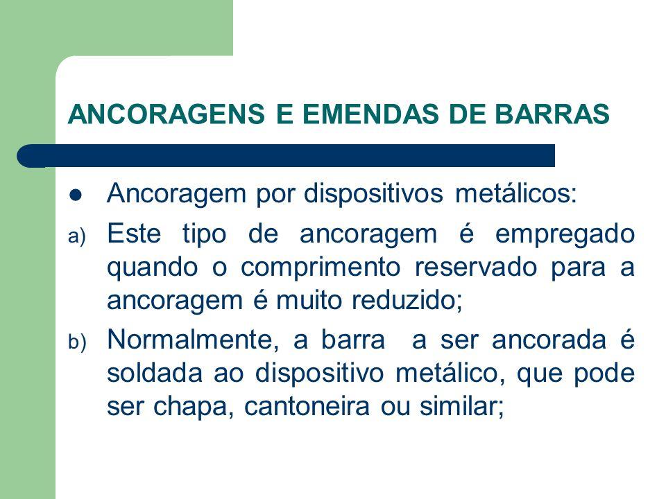 ANCORAGENS E EMENDAS DE BARRAS