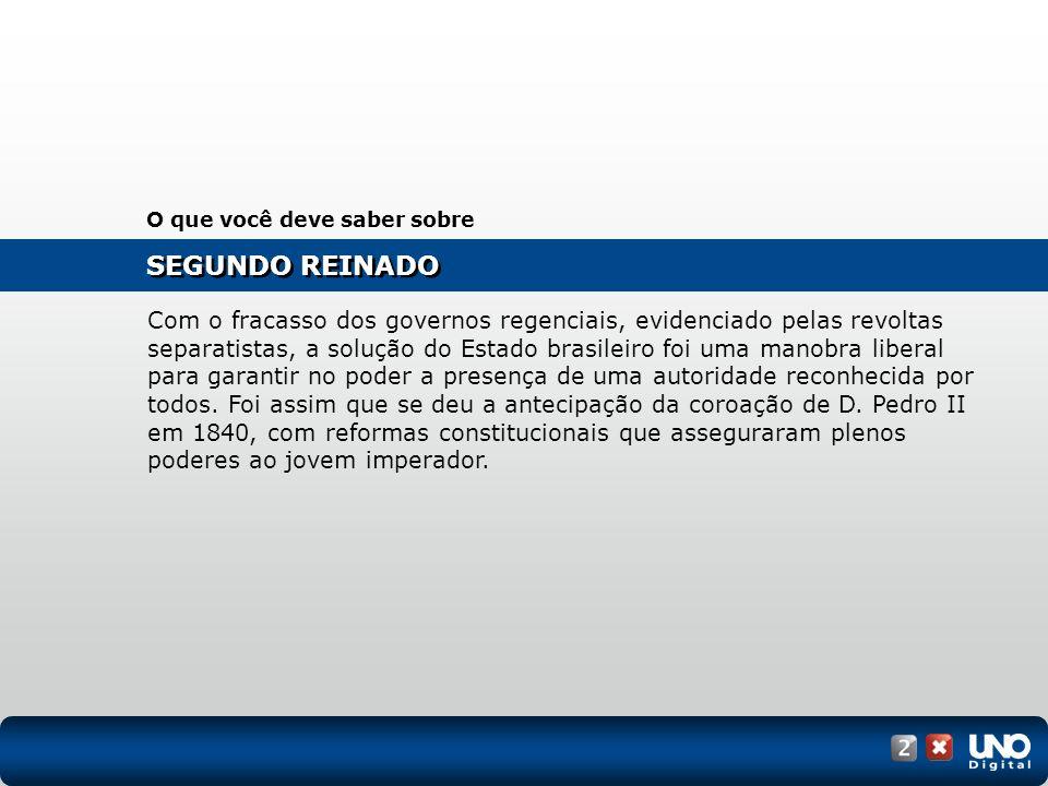 O Golpe da Maioridade evidenciou a vitória do projeto centralizador defendido por José Bonifácio.