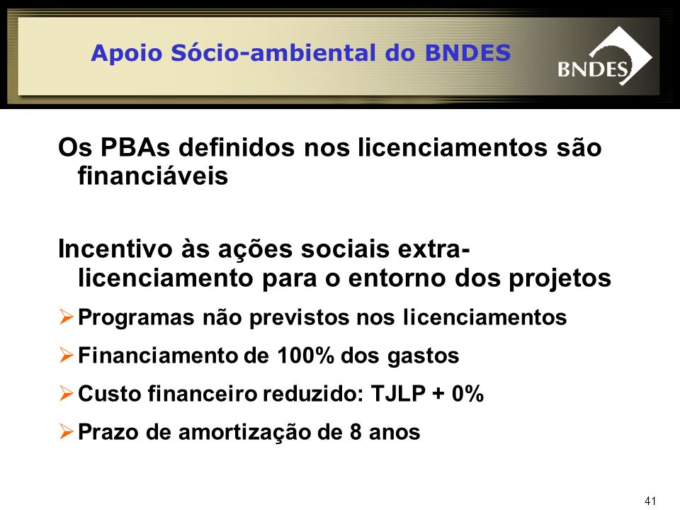 42 Portal do BNDES www.bndes.gov.br