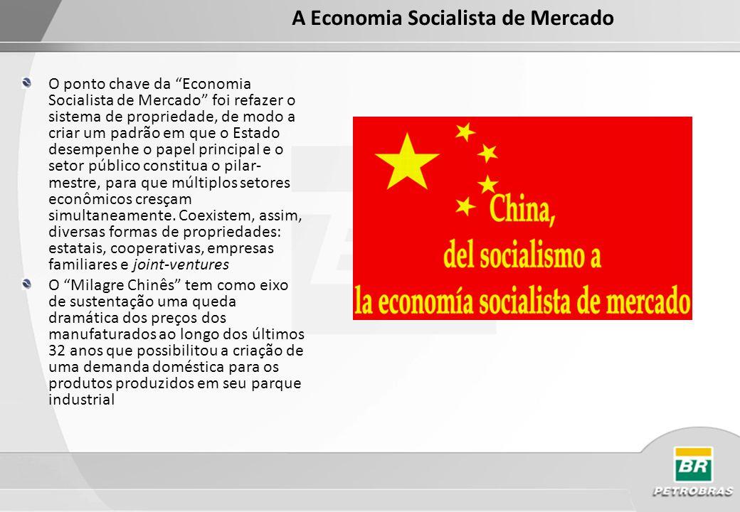 Há mais de 170 mil empresas estatais e TVEs na China, com um total de US$ 2 trilhões em ativos (caderno especial de O Globo 20/05/2004) Em 1980 os EUA concedeu à China status de nação mais favorecida.