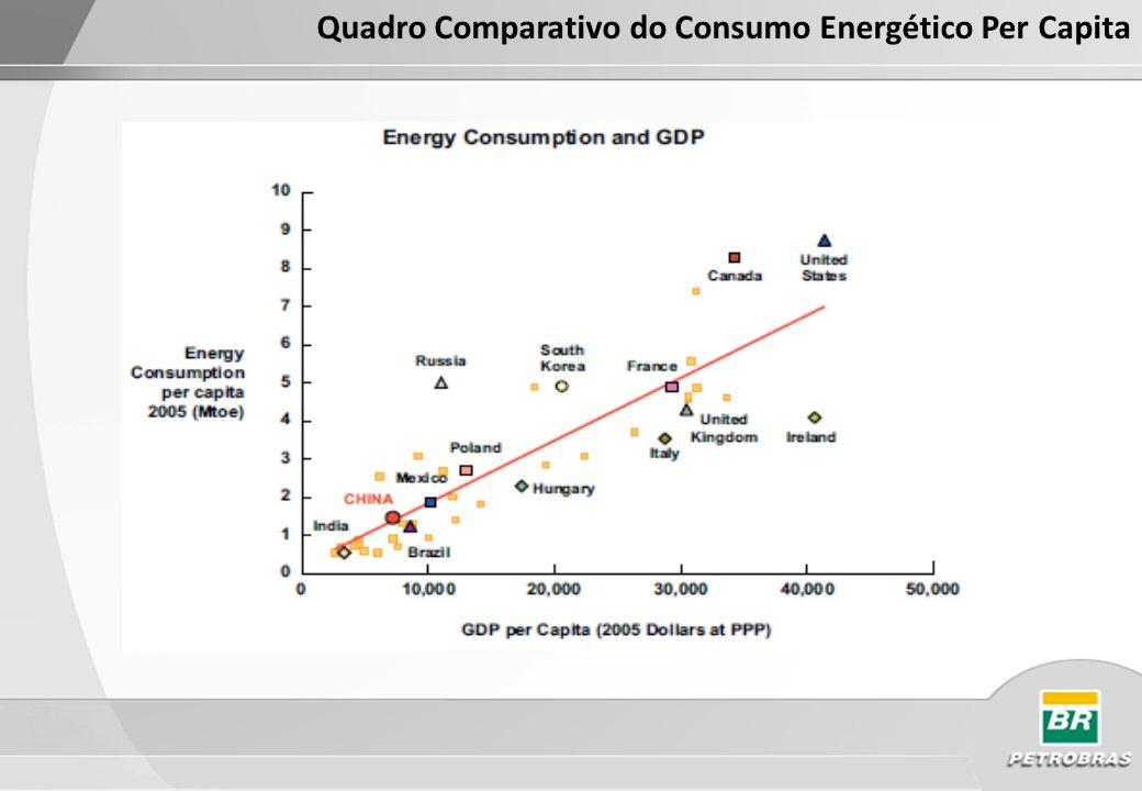 Fonte: BP Statistical Review of World Energy 2010 Oferta de Energia Primária 2009 - 2010 Oferta de Energia Primária - 2009 (2177,0) Mtoe(2434,4) Mtoe A Taxa de crescimento anual é de 10,8% no período 2003 - 2009 Oferta de Energia Primária - 2010