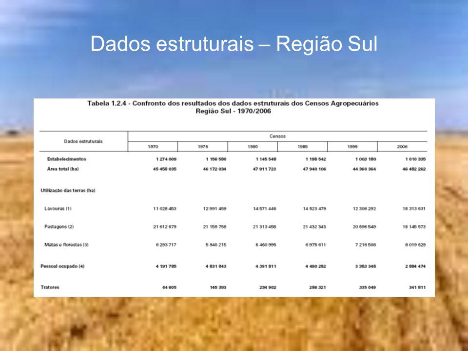 Dados estruturais – Região Centro-Oeste