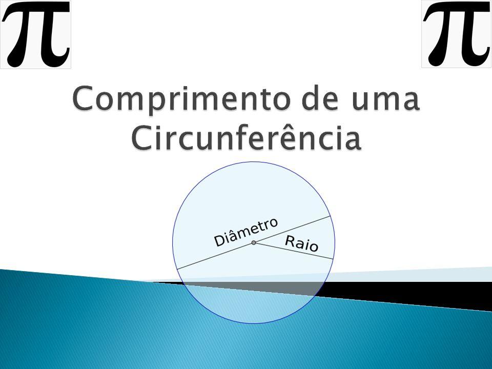 1)Qual o valor do contorno do objeto circular.2)Qual a medida do diâmetro.