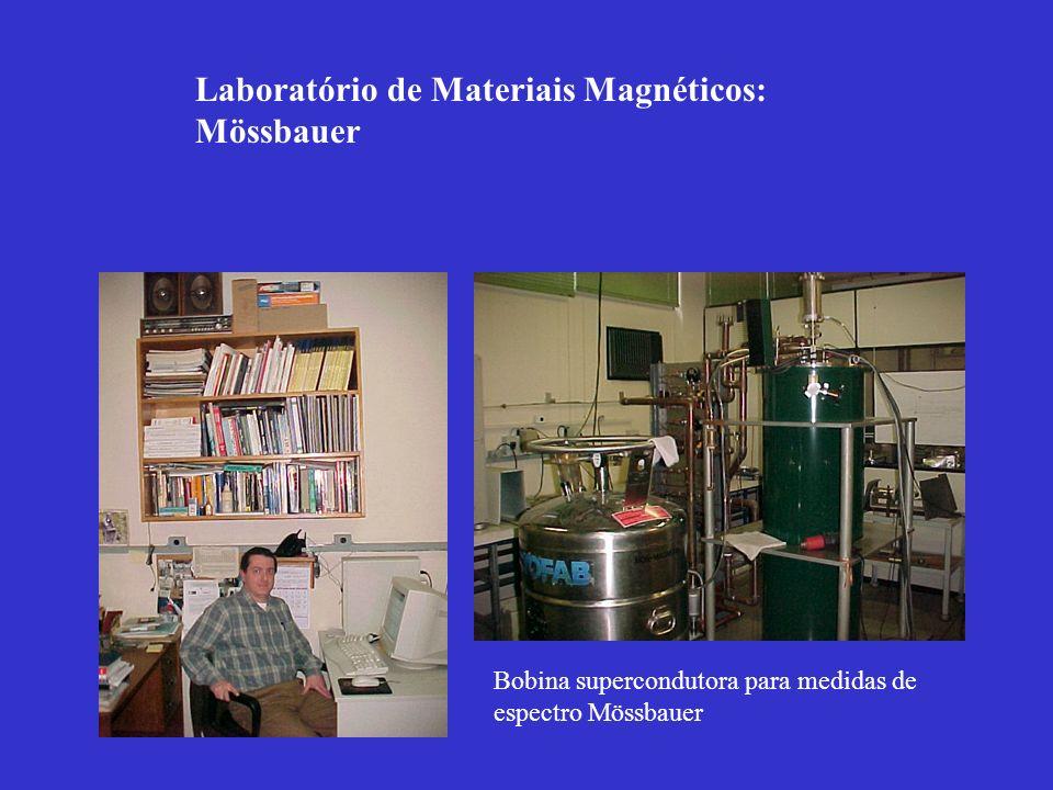 SNOM: scanning near field optical microscope Sputtering para produção de filmes finos e multi-camadas Laboratório de Materiais Magnéticos : Magneto-óptica.