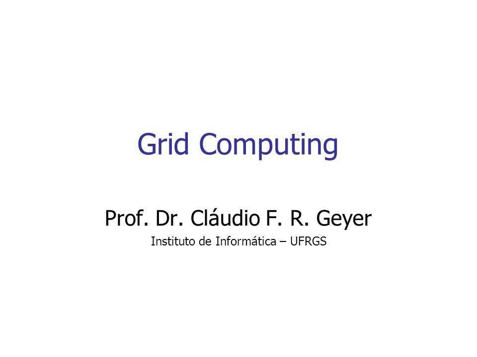 Grid Computing 2 Histórico Pessoal Processamento Paralelo e Distribuído Projeto HetNOS Ian Foster e Carl Kesselman: Grenoble (1996), SBAC, PDPA, Global Supercomputing,...
