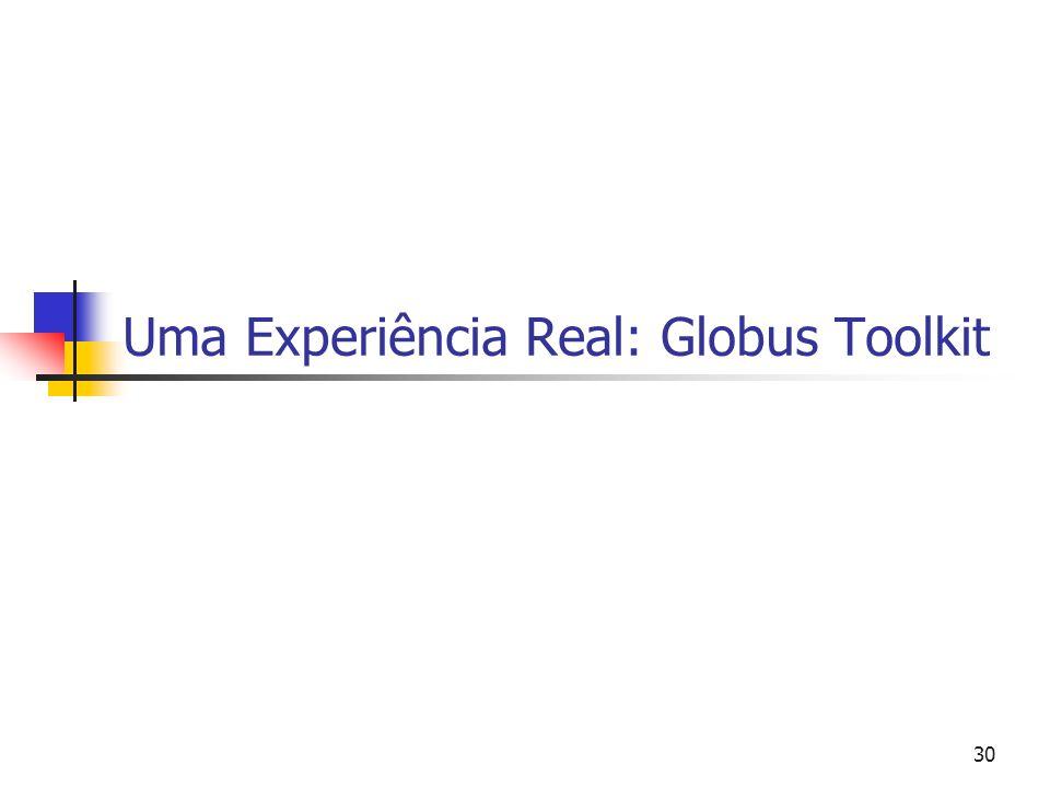 Grid Computing 31 Globus Objetivos Modelo, arquitetura, protocolos, API,...