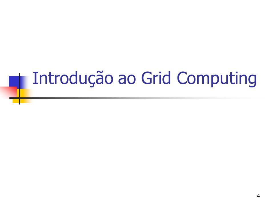 Grid Computing 5 Histórico primeira proposta em 1989, por Larry Smarr do projeto CASA (USA) metacomputing = compartilhamento, ação em comum.