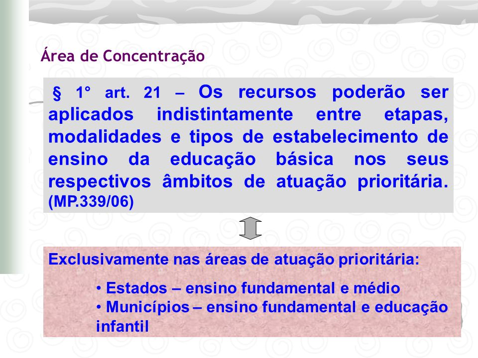 60% ensino fundamental Antes MDE (art.