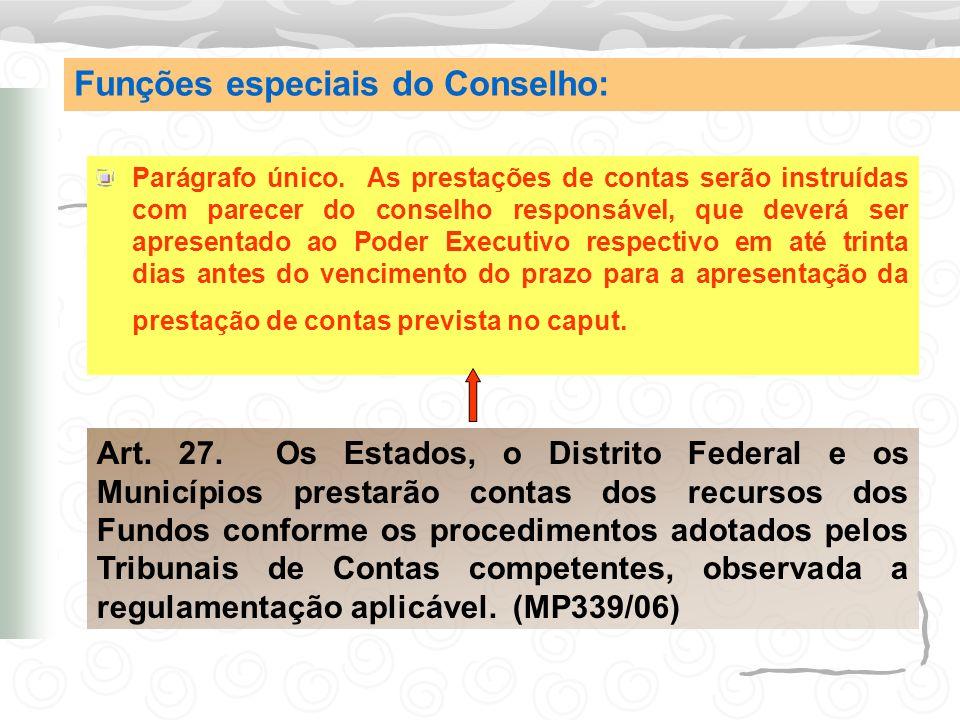 Conselho do FUNDEF Art.34.