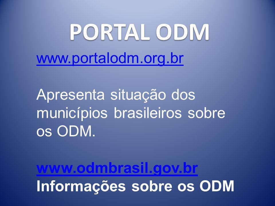 Projeto ODM Brasil 2015 OBRIGADO, Secretaria-Geral da Presidência da República Wagner.caetano@presidencia.gov.br (61) 3411-1998 www.odmbrasil.gov.brwww.odmbrasil.gov.br - informações sobre os ODM no Brasil www.portalodm.com.brwww.portalodm.com.br – indicadores de todos os municípios www.nospodemos.org.brwww.nospodemos.org.br - informações sobre o Movimento Nacional www.pnud.org.br