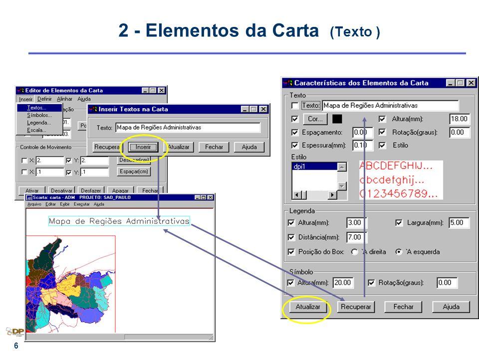 7 2 - Elementos da Carta ( Símbolo ) Biblioteca em DXF ou BMP C:\Arquivos de Programas\spring\etc\chart\symbol