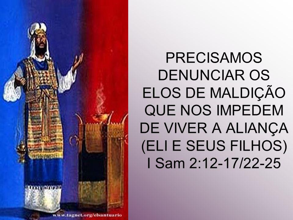 12 Eram, porém, os filhos de Eli filhos de Belial; não conheciam ao SENHOR.13 Porquanto o costume daqueles sacerdotes com o povo era que, oferecendo alguém algum sacrifício, estando-se cozendo a carne, vinha o moço do sacerdote, com um garfo de três dentes em sua mão;14 E enfiava-o na caldeira, ou na panela, ou no caldeirão, ou na marmita; e tudo quanto o garfo tirava, o sacerdote tomava para si; assim faziam a todo o Israel que ia ali a Siló.15 Também antes de queimarem a gordura vinha o moço do sacerdote, e dizia ao homem que sacrificava: Dá essa carne para assar ao sacerdote; porque não receberá de ti carne cozida, mas crua.