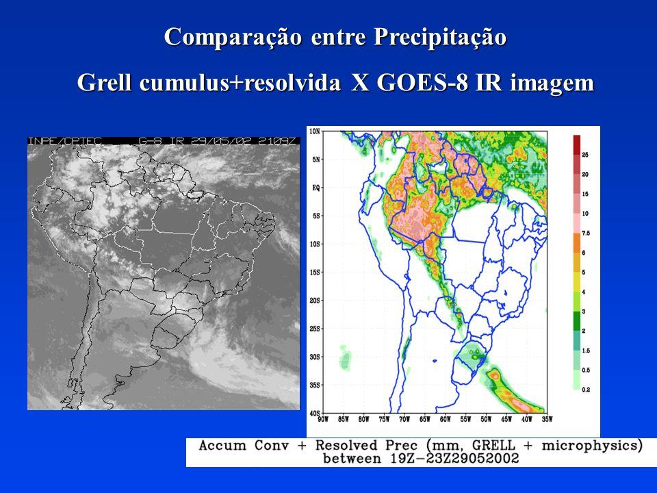 GOES-8 Prec X Grell Cumulus Conv Prec 24-25 Sep 2002 GOES Precipitation 4 km resolution Grell cumulus prec.
