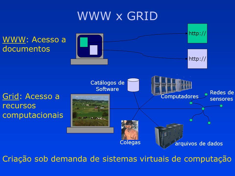 Grades Internacionais NASAs Information Power Grid The Alliance National Technology Grid GUSTO Testbed