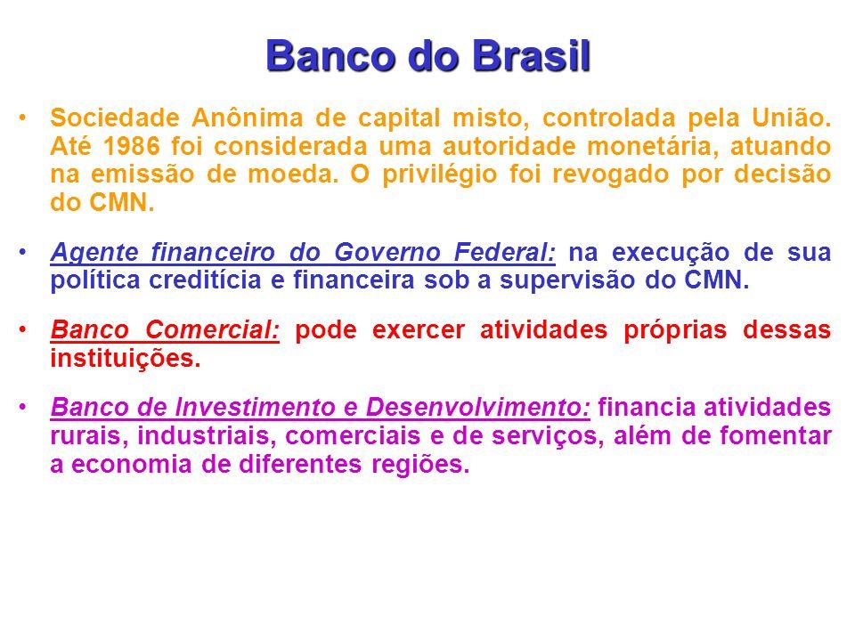 BNDES Empresa pública vinculada ao Ministério do Planeja-mento, principal instrumento de médio e longo prazo de execução da política de financiamento do Governo Federal.
