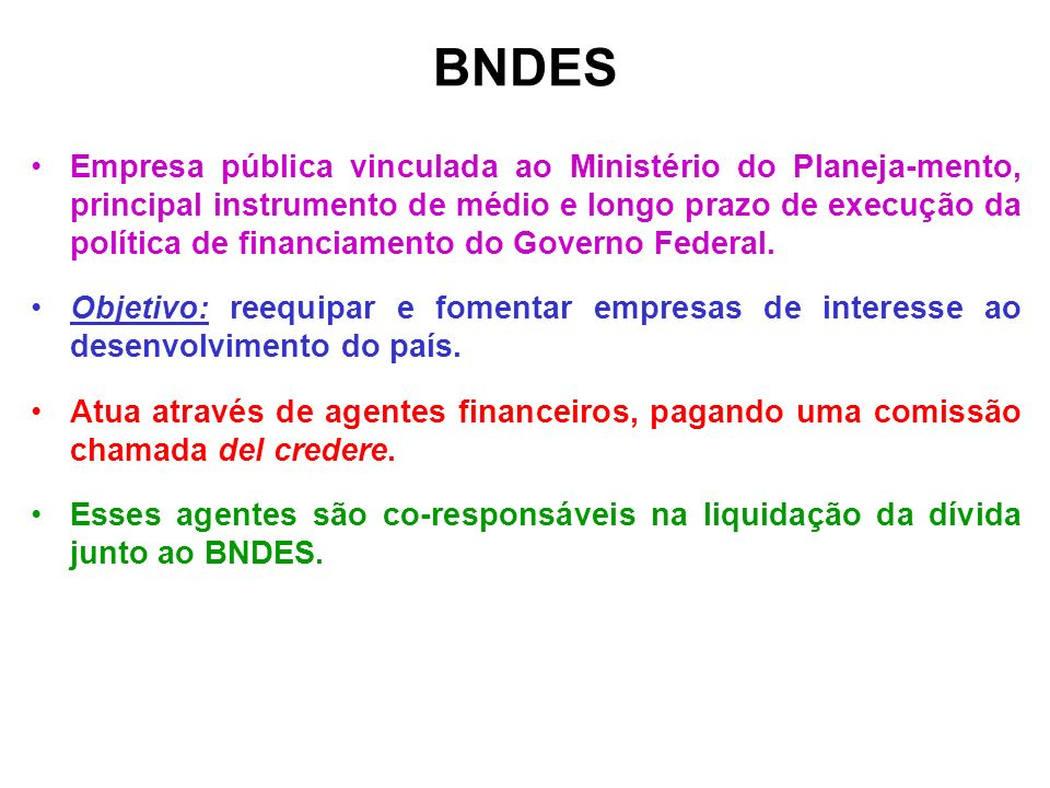 BNDES FINAME Agência Especial de Financiamento Industrial EMBRAMECMecânica Brasileira S.A.
