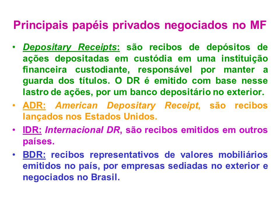 Commercial Papers: nota promissória de curto prazo emitida por sociedade tomadora de recursos para financiar seu capital de giro.