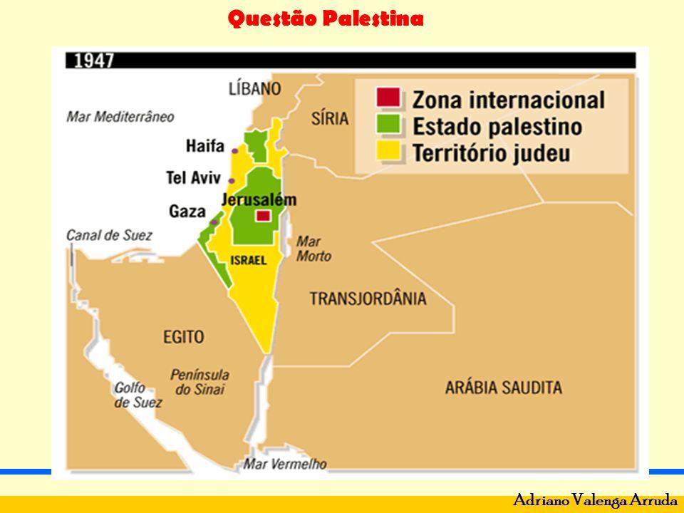 Questão Palestina Adriano Valenga Arruda 1956 - Nacionalização do canal de Suez por Gamal Abdel Nasser - França, Inglaterra e Israel invadem o Egito e toma o Sinai – 2ª Guerra.