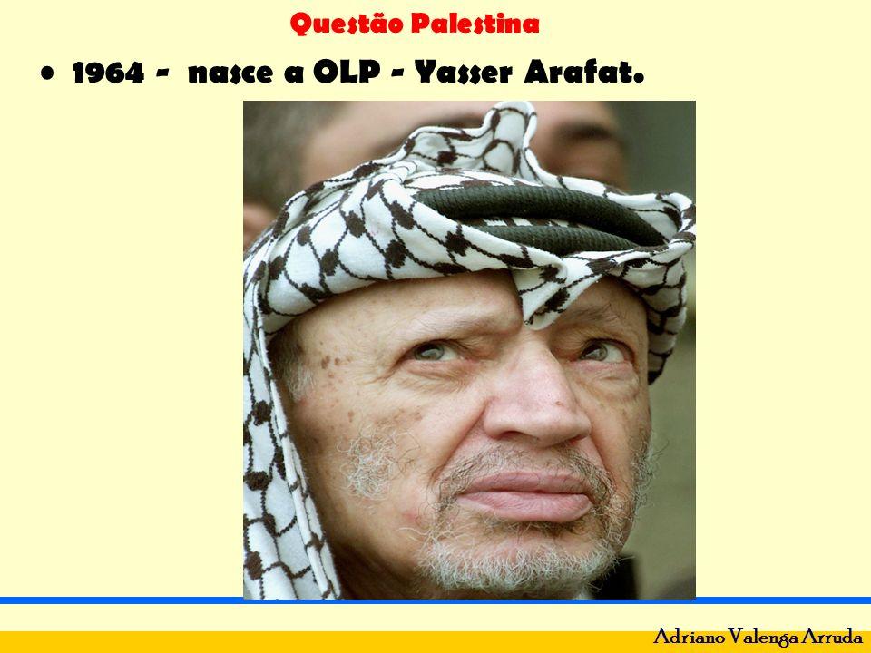 Questão Palestina Adriano Valenga Arruda 1967 - Guerra dos 6 dias: Israel X Egito, Jordânia e Síria.