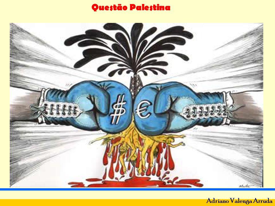 Questão Palestina Adriano Valenga Arruda Palestina – hebreus, judeus (2.000 a.C) Ocupadas por romanos em 70 e 132 a.C – diáspora.