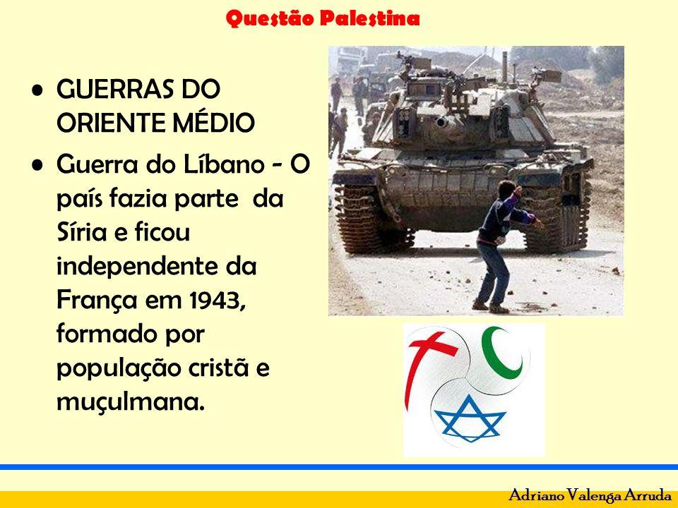 Questão Palestina Adriano Valenga Arruda Nos anos 70 recebeu milhares de refugiados palestinos, com isso os muçulmanos eram agora 70% da população.