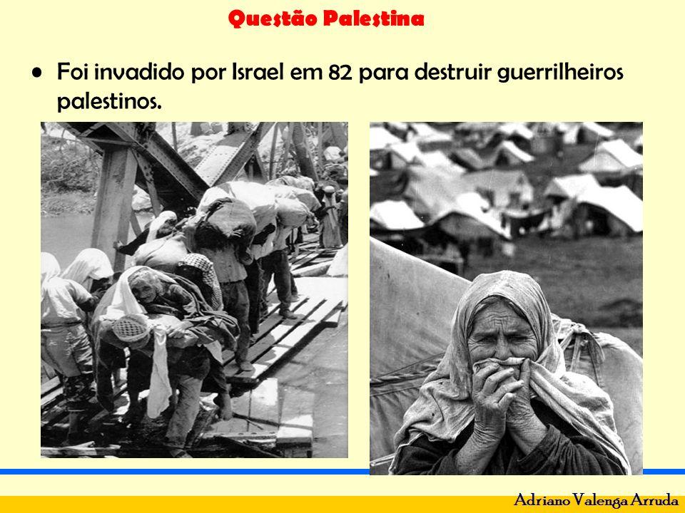 Questão Palestina Adriano Valenga Arruda Guerra do Golfo - 1991- Sadan Hussein invadiu o Kuwait - riquíssimo em petróleo, o mundo ocidental correu para ajudar o Kuwait, em poucos dias as tropas iraquianas renderam-se, incendiando as minas de ouro negro.