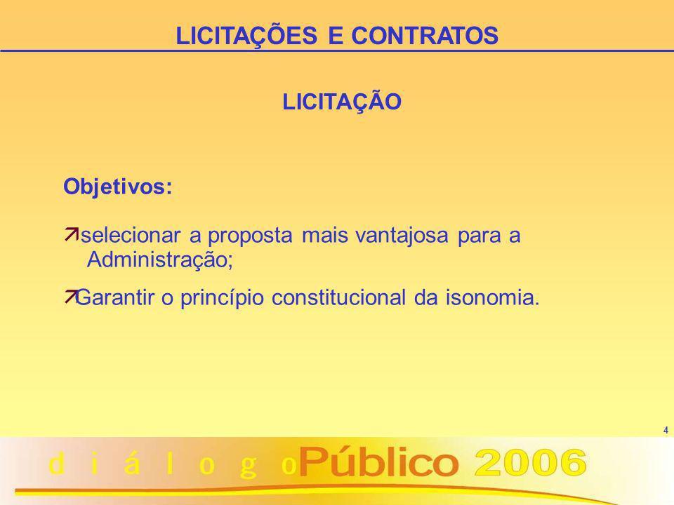 5 LICITAÇÃO ä Princípio da Legalidade ä Princípio da Moralidade LICITAÇÕES E CONTRATOS