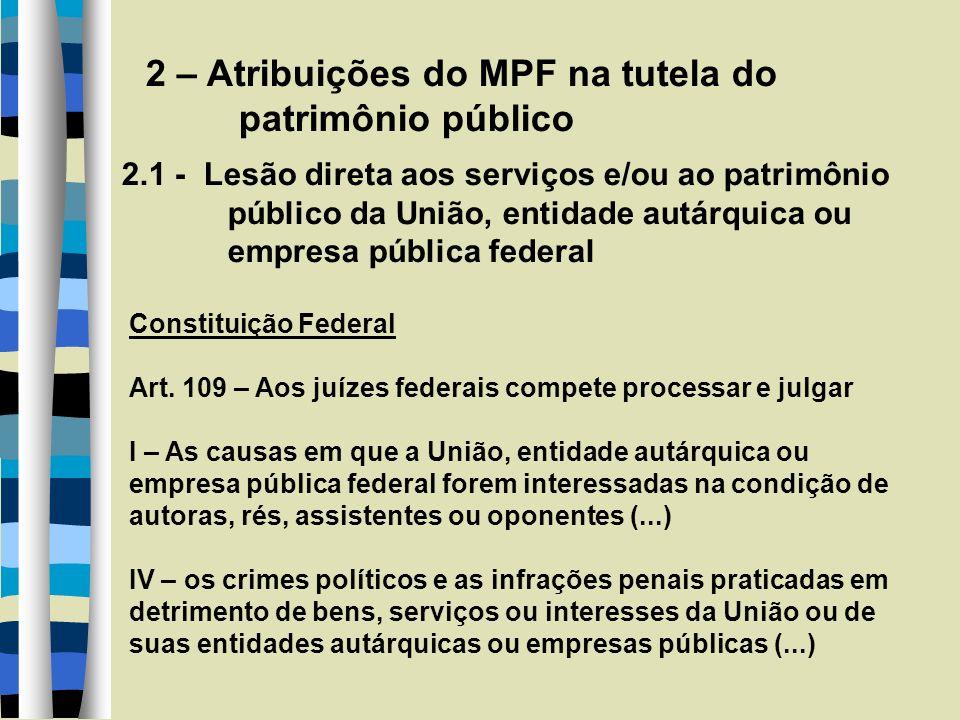 2 – Atribuições do MPF...
