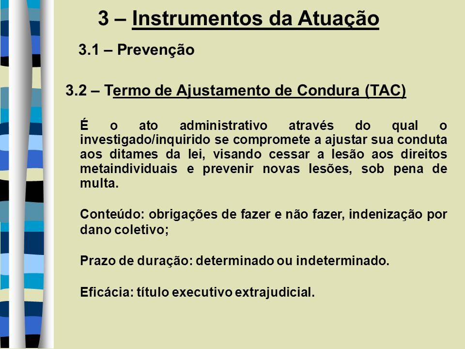 3 – Instrumentos da Atuação 3.2 - Investigação 3.2.1 - Tipos a) Inquérito Civil Lei Complementar n° 75/93 Art.