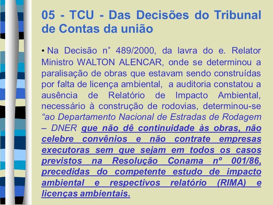 05 - TCU - Das Decisões do Tribunal de Contas da união Na Decisão n° 420/2002, da lavra do e.