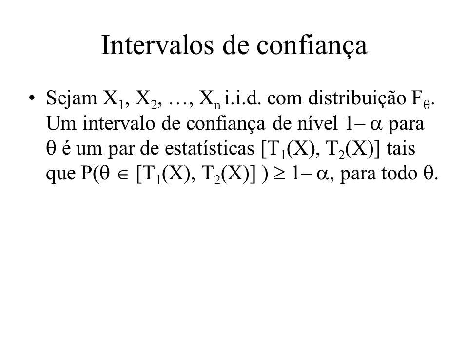 Observações A probabilidade da definição se refere a T 1 e T 2 e não a.