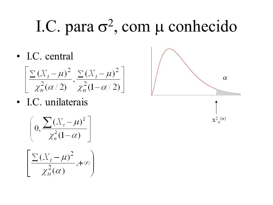 A distribuição 2 Sejam X 1, …, X n i.i.d.N(0,1).