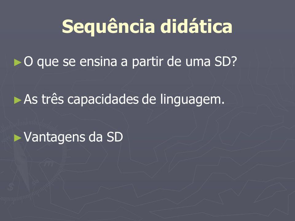 As capacidades de linguagem 1.Capacidades de ação 2.