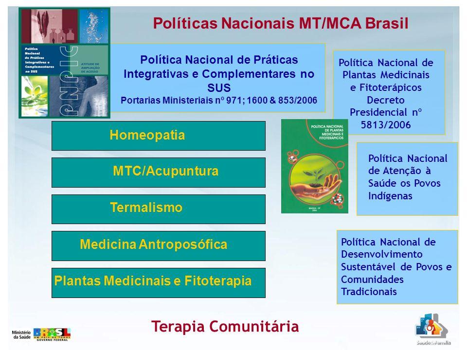 PROGRAMA NACIONAL DE PLANTAS MEDICINAIS E FITOTERÁPICOS Portaria Interministerial Nº 2960, de 09 de dezembro de 2008, aprova o Programa Nacional de Plantas Medicinais e cria o Comitê Nacional de Plantas Medicinais e Fitoterápicos.