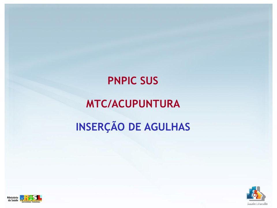 2007 = 97.274 2008 = 206.528 2009 = 221.862 SESSÃO DE ACP C/ INSERÇÃO DE AGULHAS 2007/2008/2009 Quantidade Apresentada Fonte: SIA/SUS Acesso em 10.05.2010
