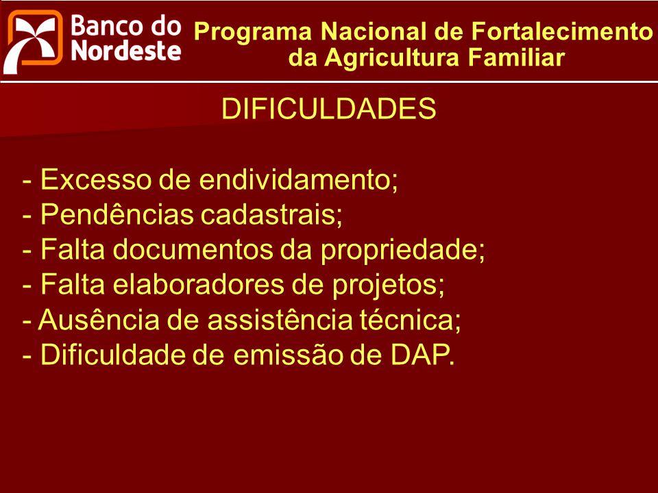 Programa Nacional de Fortalecimento da Agricultura Familiar APLICAÇÕES EM 2010