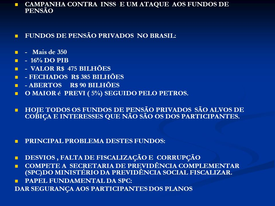 AERUS INSTITUTO AERUS DE SEGURIDADE SOCIAL CRIADO EM 1982 – 1º Benefício 1985 ENTIDADE FECHADA DE PREVIDÊNCIA QUE REÚNE EMPRESAS PATROCINADORAS LIGADAS AO SETOR AÉREO.