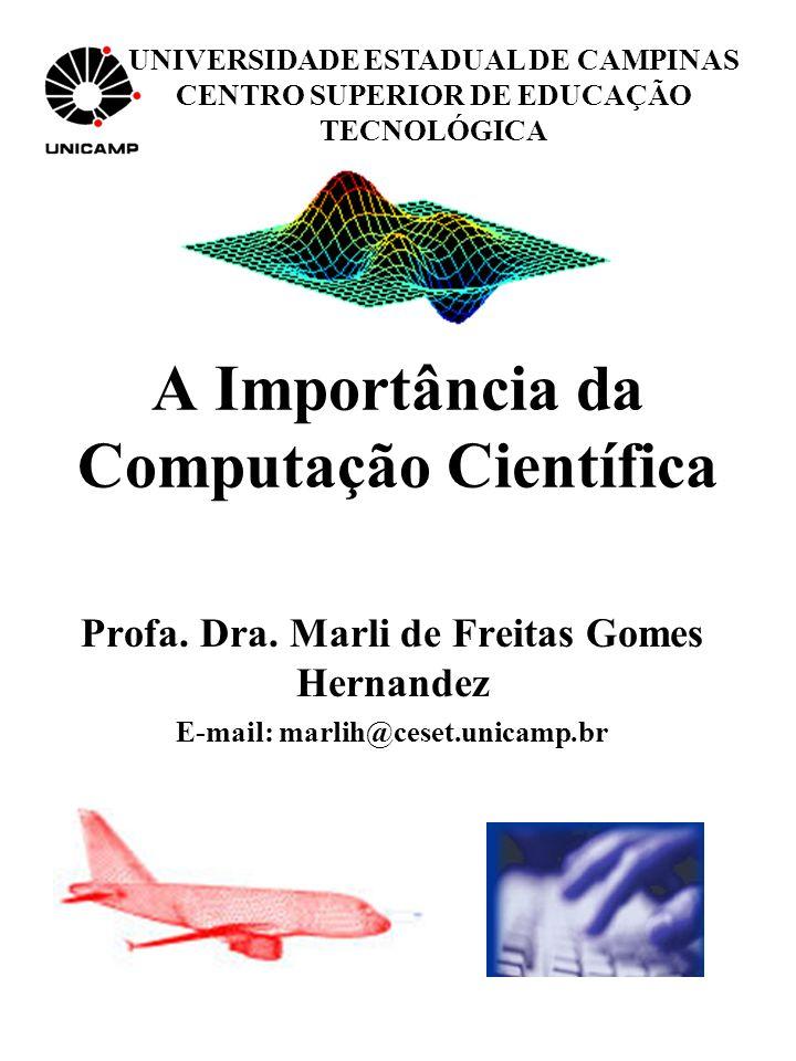 Computação científica é uma área que envolve: Definição do Problema a partir de um fenômeno, que pode ser físicos, naturais, econômicos e outros.