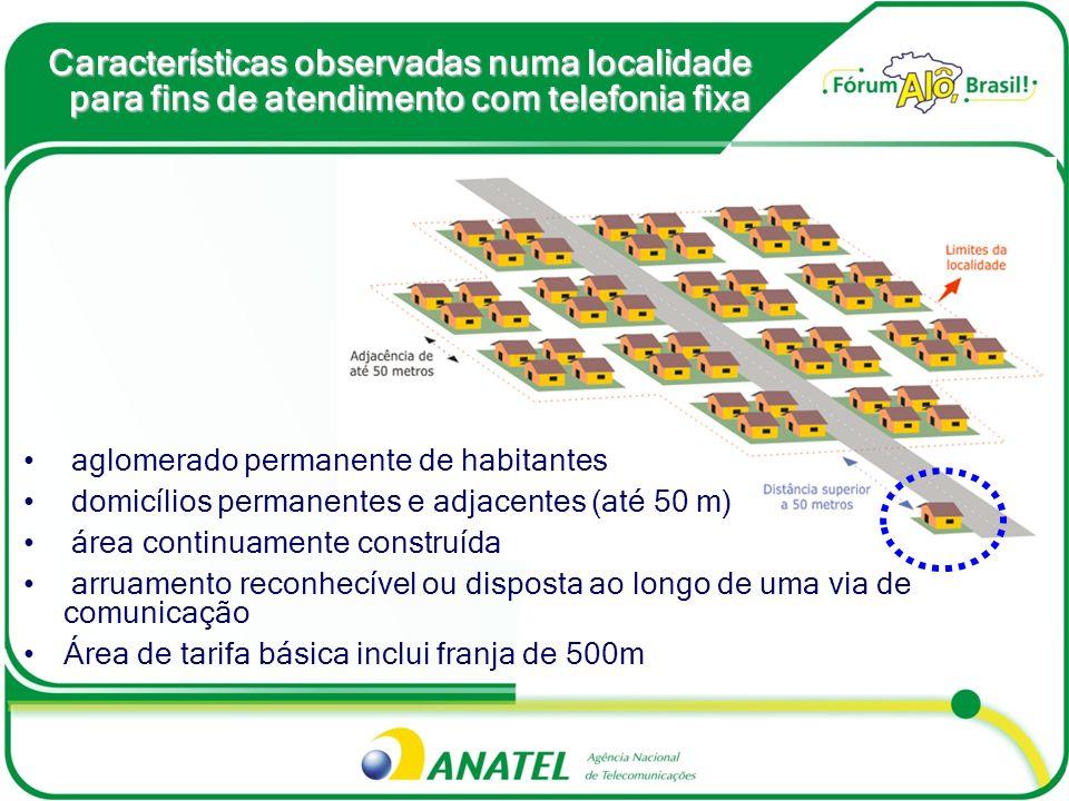 Obrigações de Transporte em banda larga Obrigações de Transporte em banda larga capacidade mínima de transmissão do backhaul população A capacidade mínima de transmissão do backhaul, para atendimento às sedes dos municípios, deverá considerar a população do respectivo município, observando as seguintes disposições: HabitantesCapacidade de Transmissão at é 20.0008 Mbps entre 20.001 at é 40.00016 Mbps entre 40.001 at é 60.00032 Mbps mais de 60.00064 Mbps Backhaul Backhaul é a infraestrutura da rede de telefonia fixa para suporte à banda larga – Decreto nº 6.424/2008 (troca de metas)