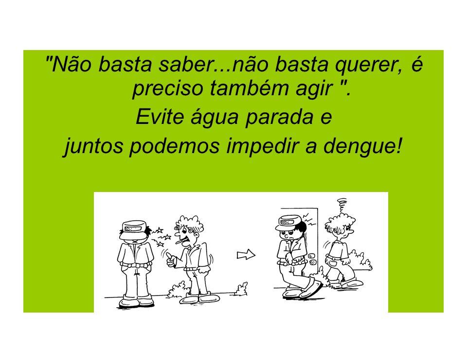 O grande segredo para o crescimento é compartilhar. Compartilhar a responsabilidade social de eliminar os criadouros do mosquito da dengue e evitar água parada.