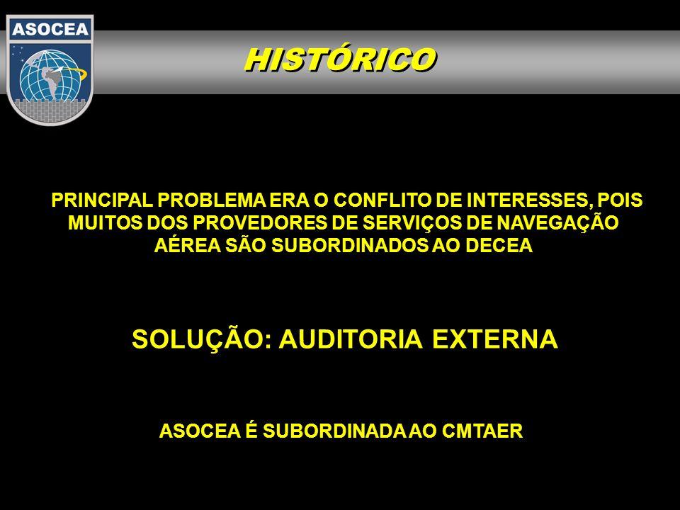 CERNAI x ASOCEA A ASOCEA foi criada com o objetivo de realizar a vigilância da segurança operacional no controle do espaço aéreo brasileiro e foi incumbida de coordenar as ações para a auditoria da ICAO.